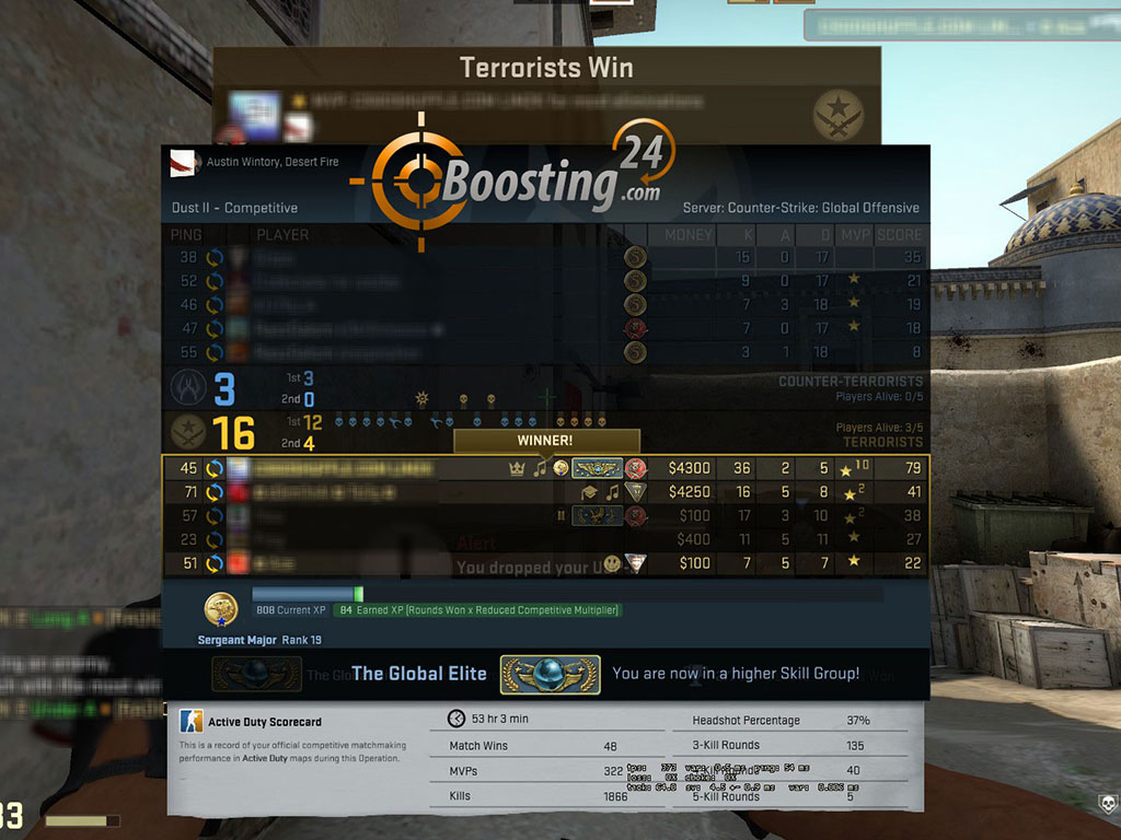 great csgo boosting