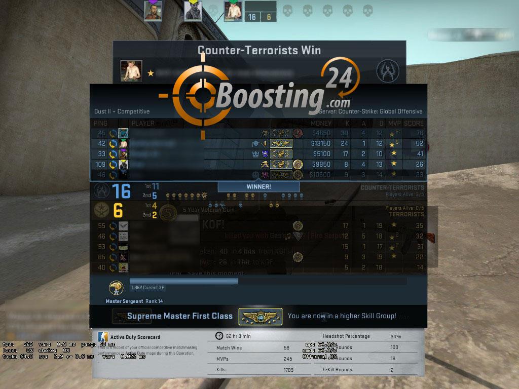 csgo xp boost servers